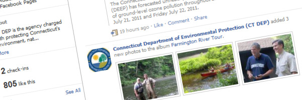 Connecticut DEP Launches a Facebook Page