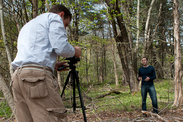 Filming at Mianus River Gorge Preserve, Bedford, New York